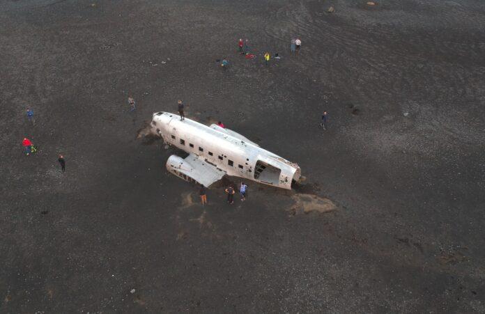 DC-3 Wreckage Drone Photo